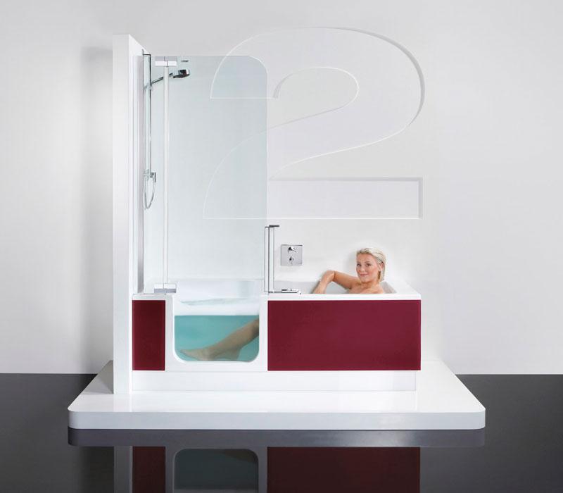 artweger twinline 2 180 glasschuerze bordeaux - Badewanne Mit Dusche Preis 2